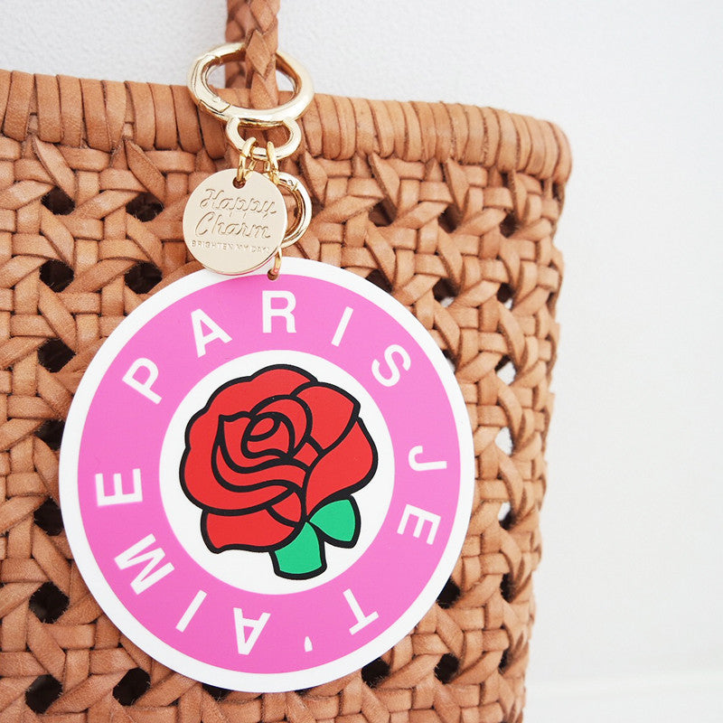 Happy Charm - I Love You Paris - Pink (2 sizes available)