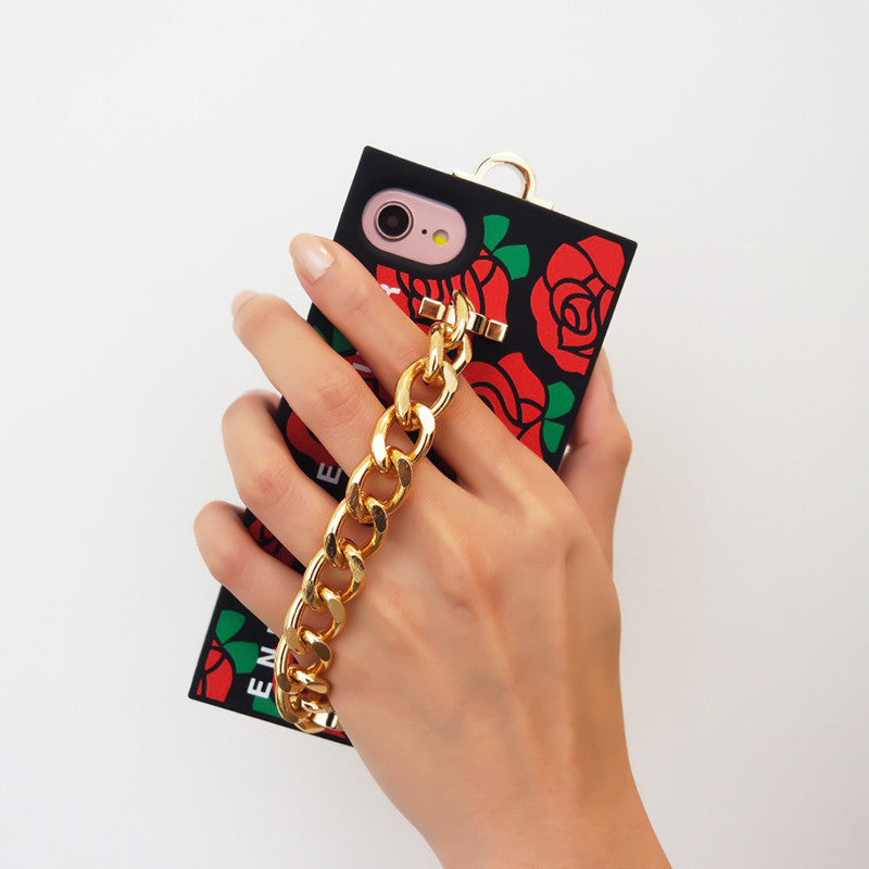 iPhone SE/7/8 Red Rose Chain Case