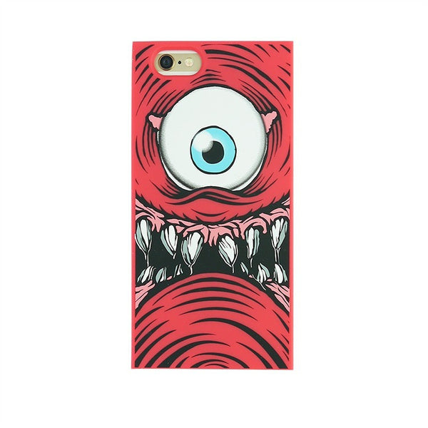 iPhone 6 Plus/6s Plus - One-Eyed Monster (Red) - Phone Cases - Candies Gifts