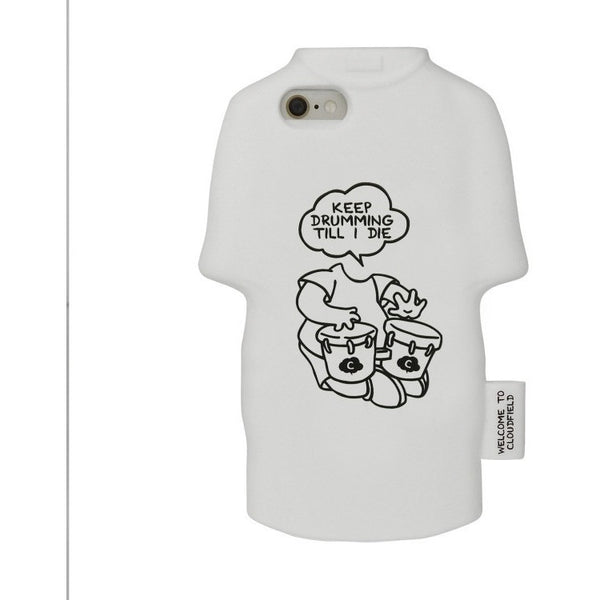 iPhone 6/6s -  Cloudfield Tee Case-Keep Drumming Till I Die - Phone Cases - Candies Gifts
