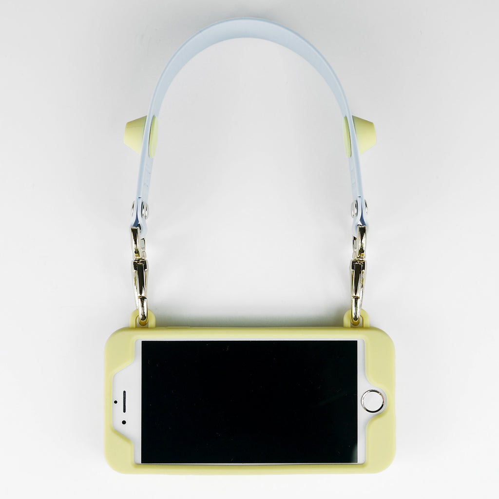 iPhone 7/8 Seal Stamped Case with Happy Strap (Yellow)