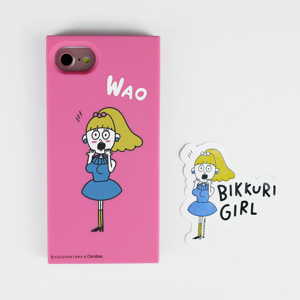 iPhone SE/7/8 Case - Candies x Kazuharinnu - Bikkuri Girl