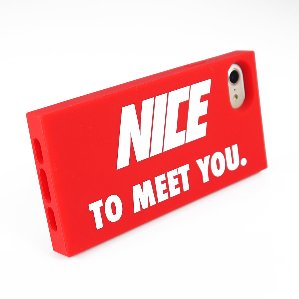 iPhone SE/7/8 Simple Case - Nice to Meet You (Red)