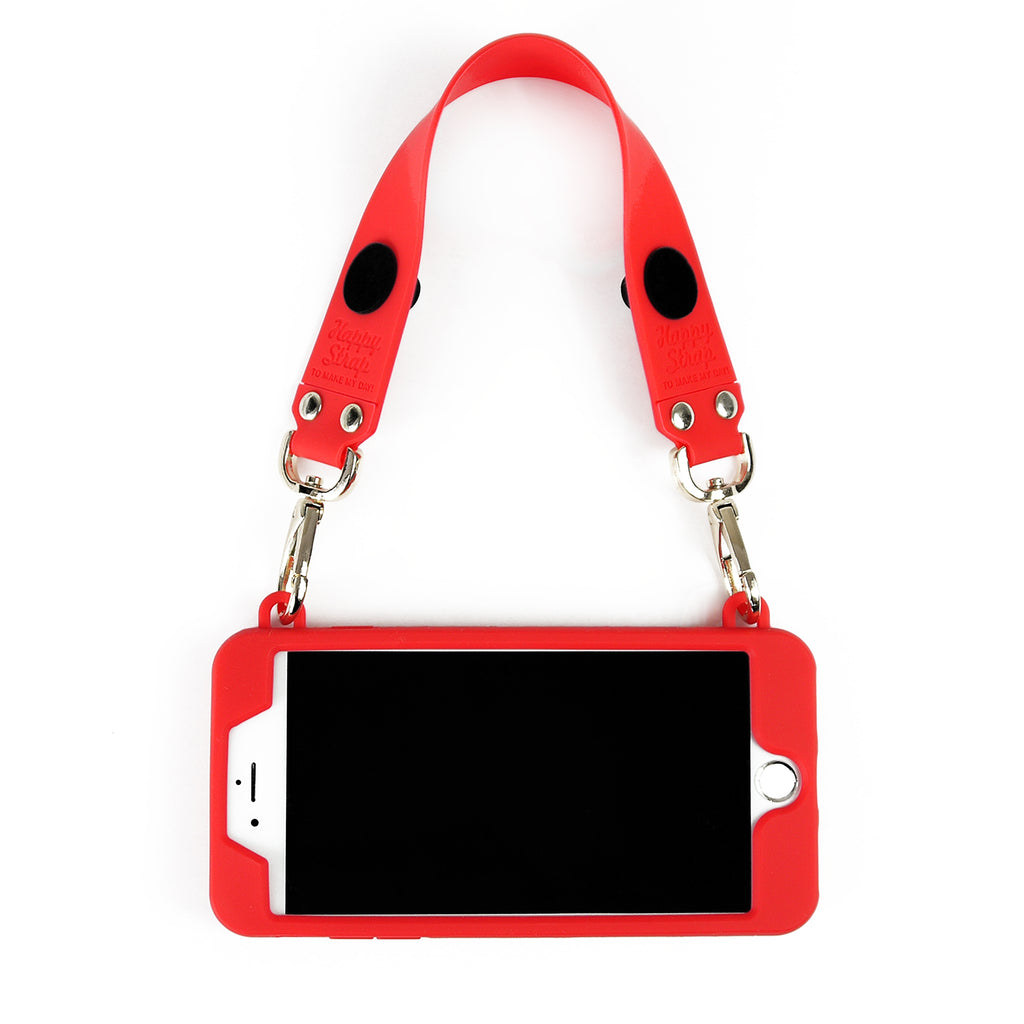 iPhone 7 Plus/8 Plus Seal Stamped Case with Happy Strap (Red Edition)