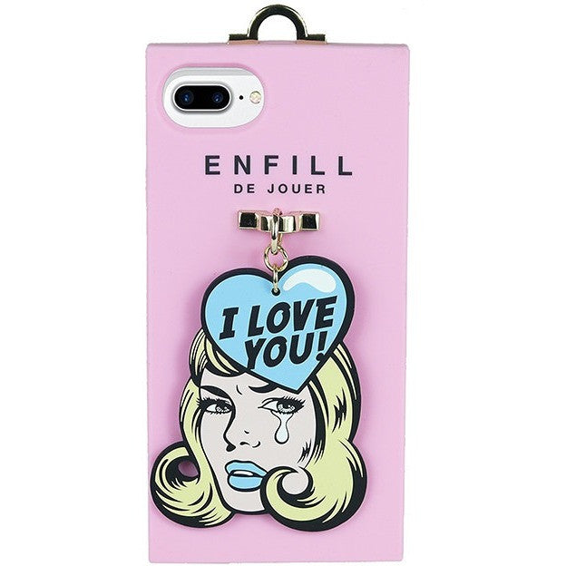 iPhone 7 plus Handing case - Girl's Talk - I Love You! - Phone Cases - Candies Gifts