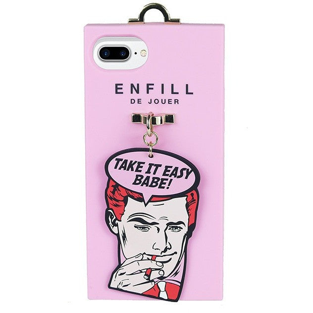 iPhone 7 Plus Handing case -  Boy's Talk - Take It Easy Babe! - Phone Cases - Candies Gifts