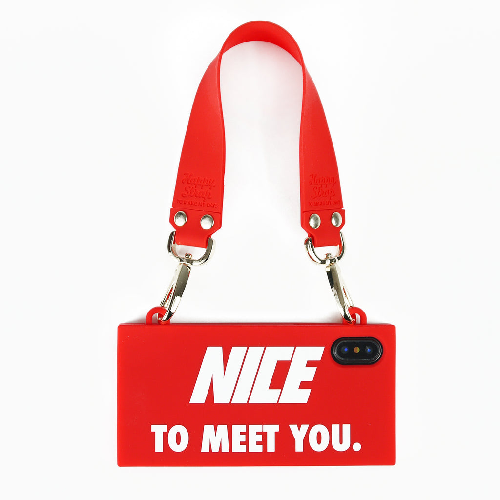 iPhone X/Xs Handbag Case - Nice to Meet You (Red)