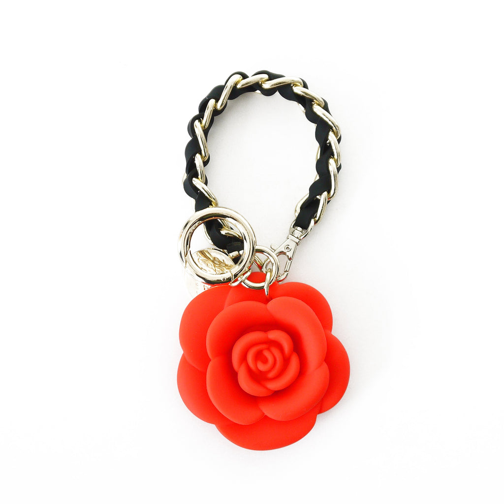 Happy Charm - Blossom Flower with Short Strap (Red)