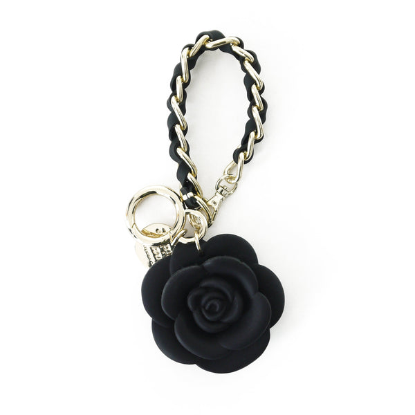 Happy Charm - Blossom Flower with Short Strap (Black)