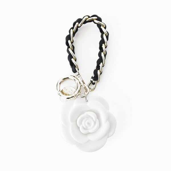 Happy Charm - Blossom Flower with Short Strap (White)