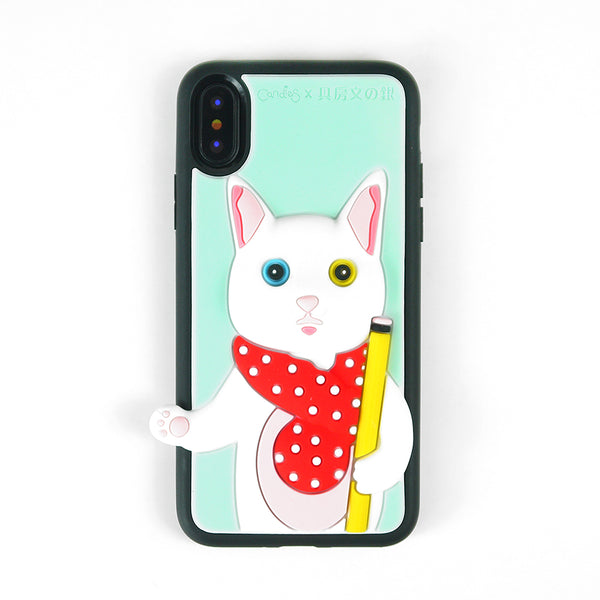 iPhone X - Candies x Gin Cat Plastic Case