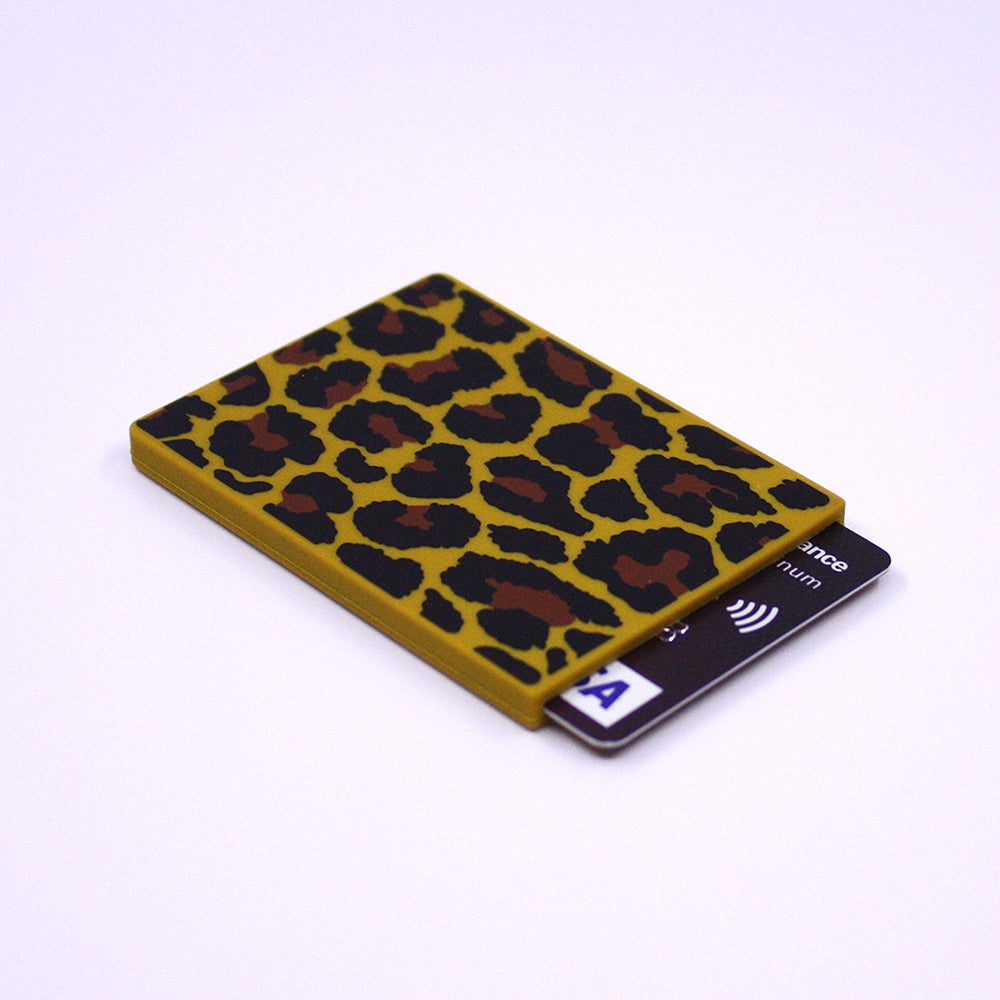 Removable Sticker Card Case - Leopard
