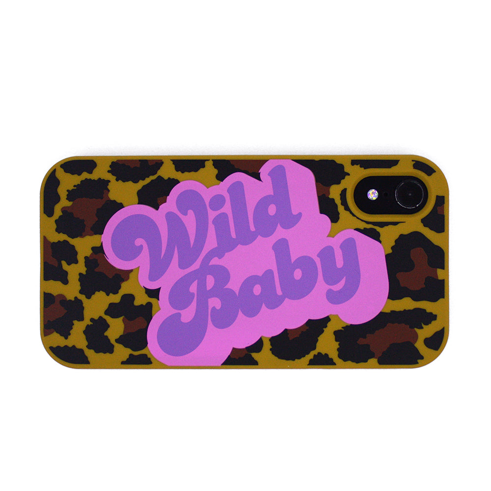 iPhone XR Simple Case - Leopard (Wild Baby)