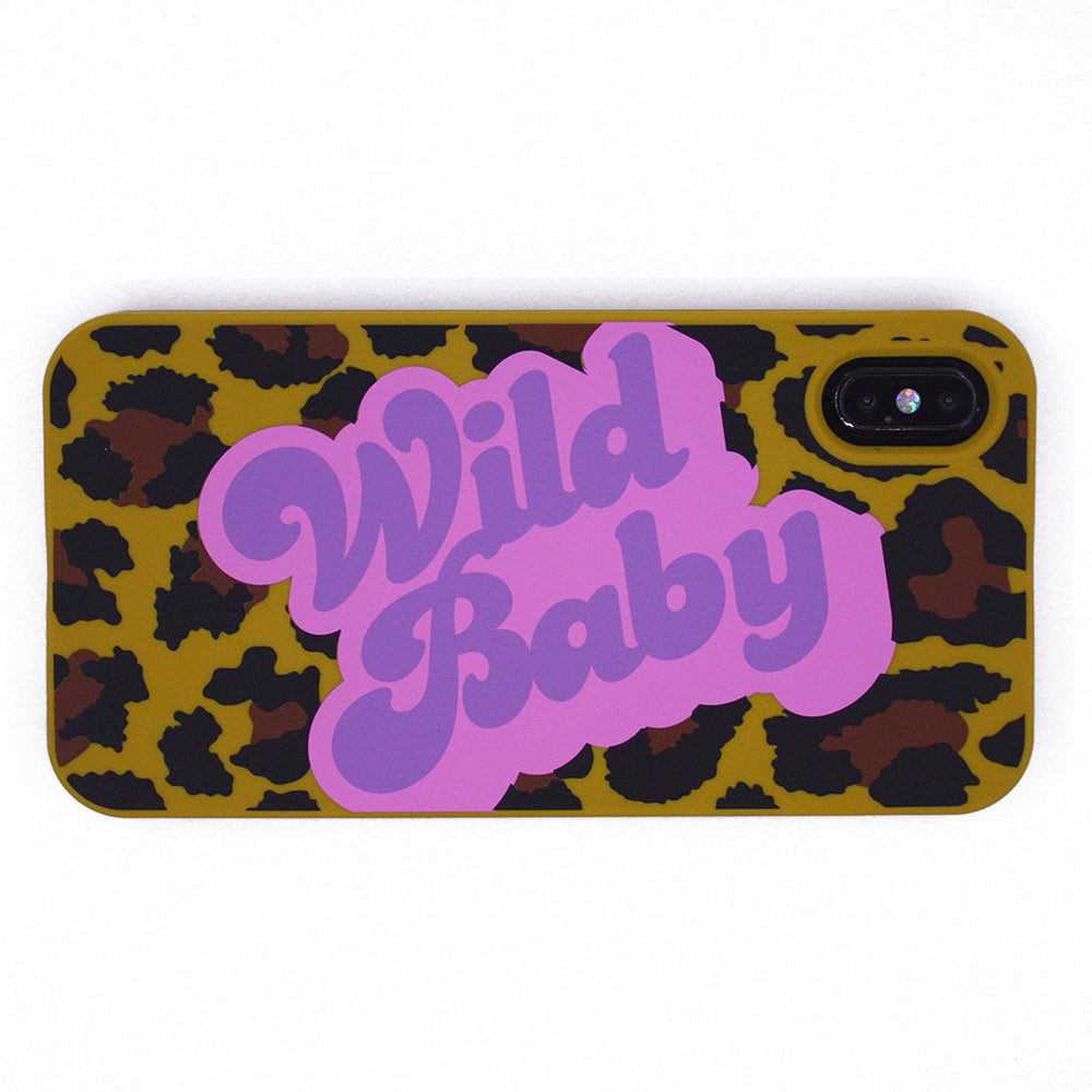 iPhone XS Max Simple Case - Leopard (Wild Baby)