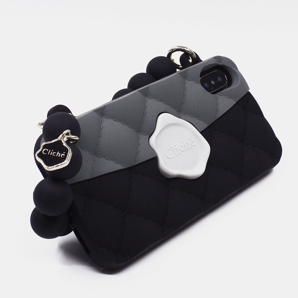 iPhone X/Xs Seal Stamped Case (Grey/Black)