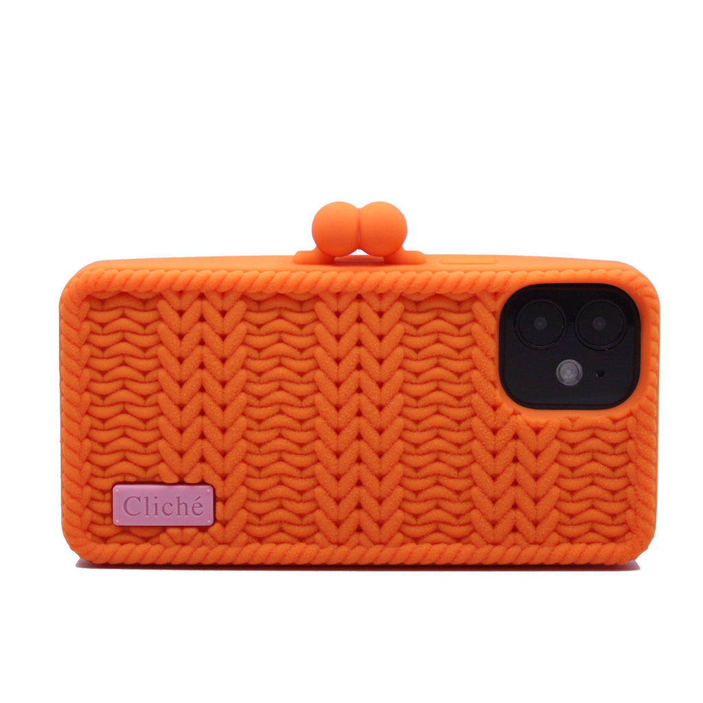 iPhone 12 Mini Knitted Case (Orange)