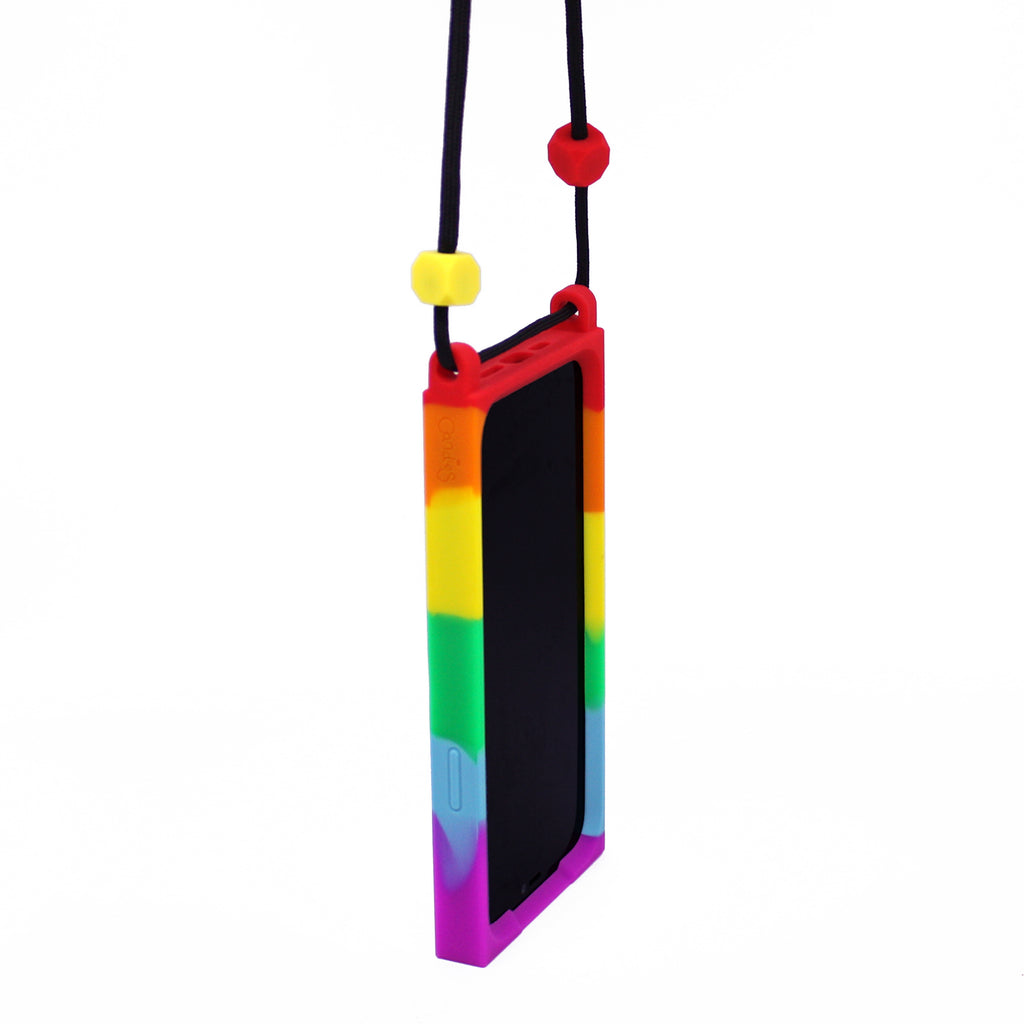 iPhone 12 Mini Lanyard iPhone Case - Go Go Rainbow