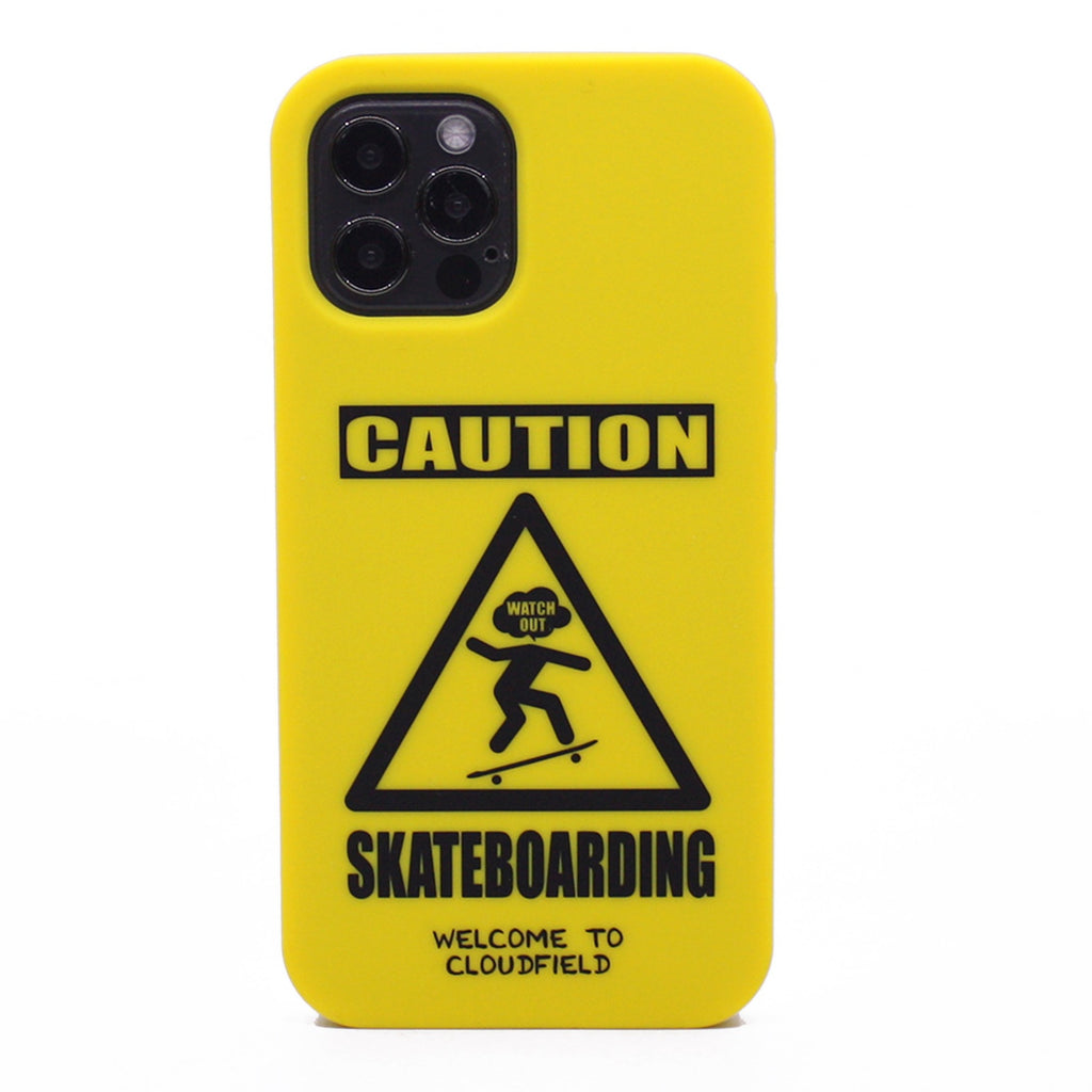iPhone 12/12 Pro Simple Case - Caution Skateboarding