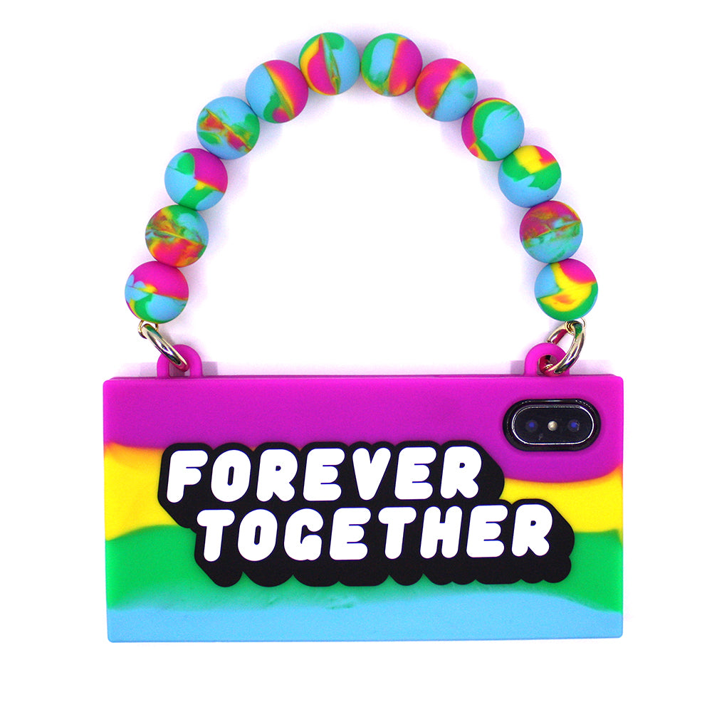 iPhone X/Xs Rainbow Handbag Case - FOREVER TOGETHER