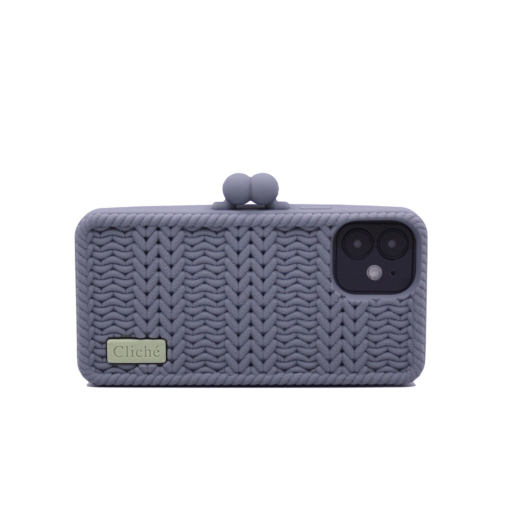 iPhone 12 Mini Knitted Case (Grey)