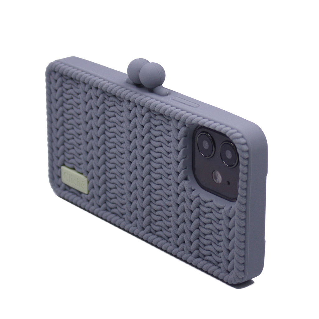 iPhone 12 Knitted Case (Grey)