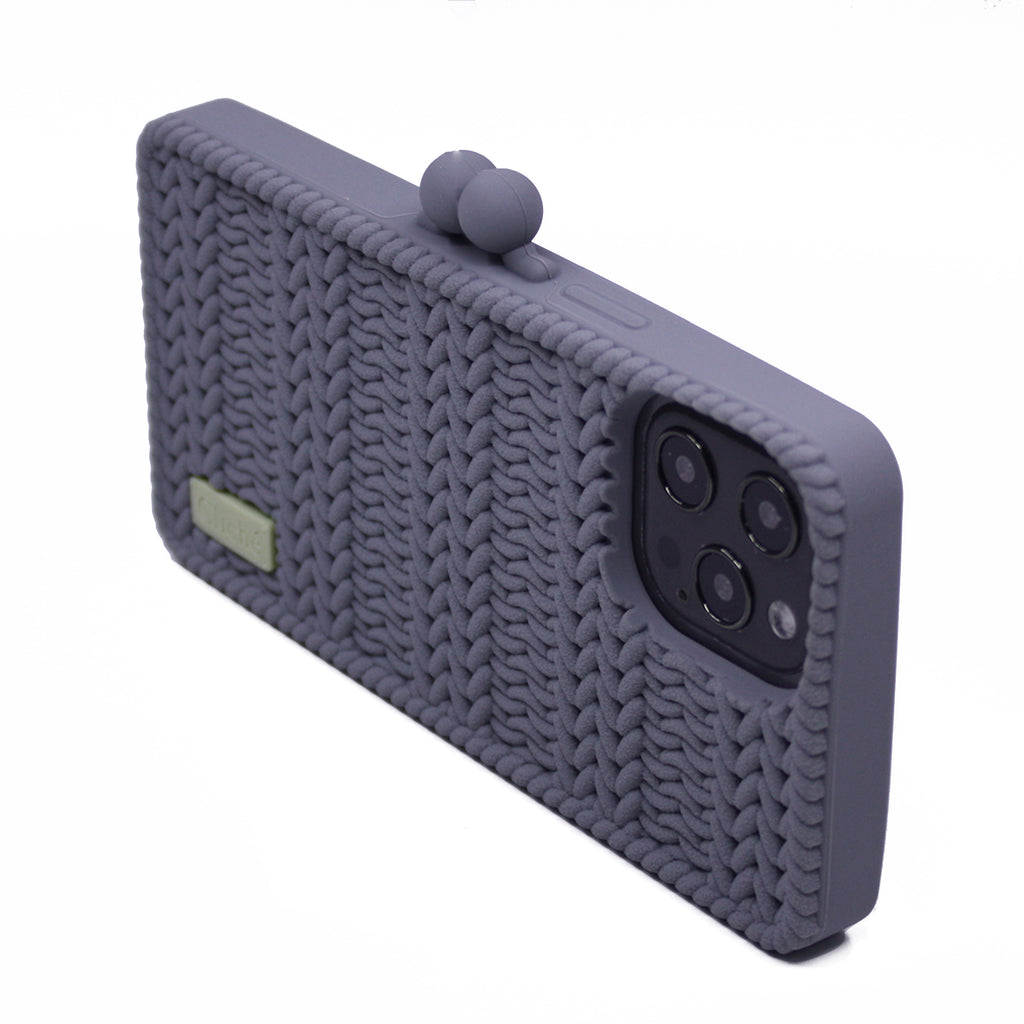 iPhone 12 Pro Max Knitted Case (Grey)