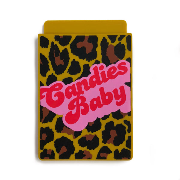 Removable Sticker Card Case - Leopard CANDIES BABY