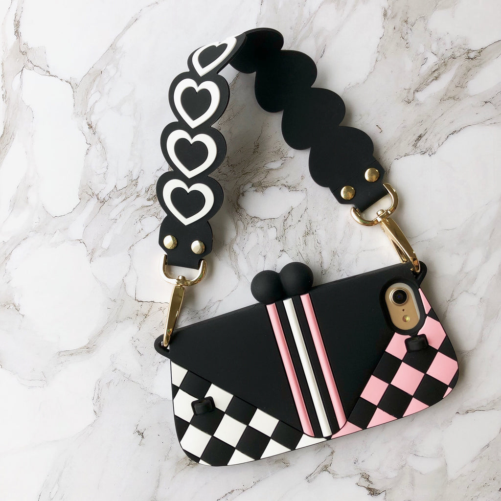 Happy Strap (Short) - Sweet Heart (Black)