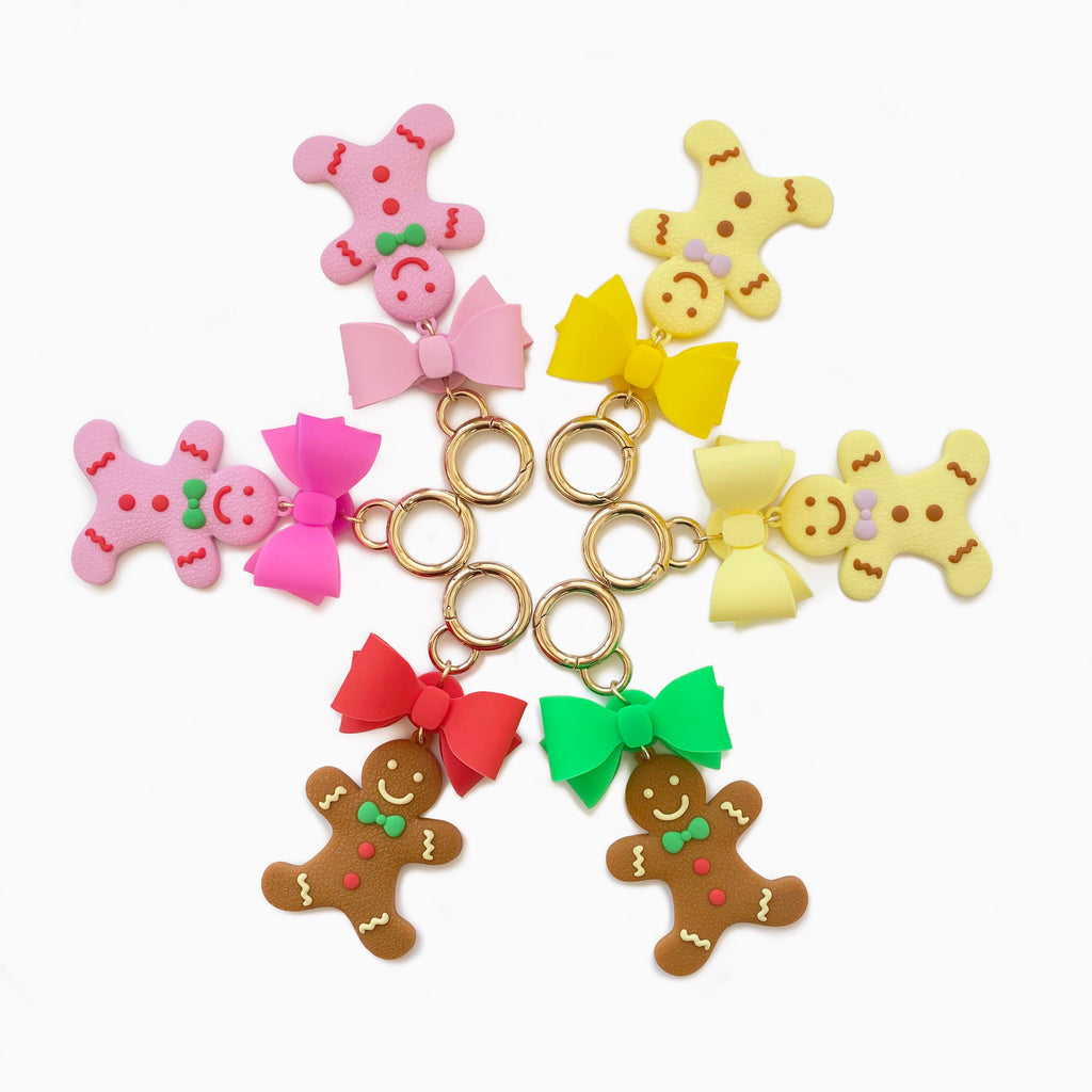 Happy Charm - Gingerbread Man with Ribbon