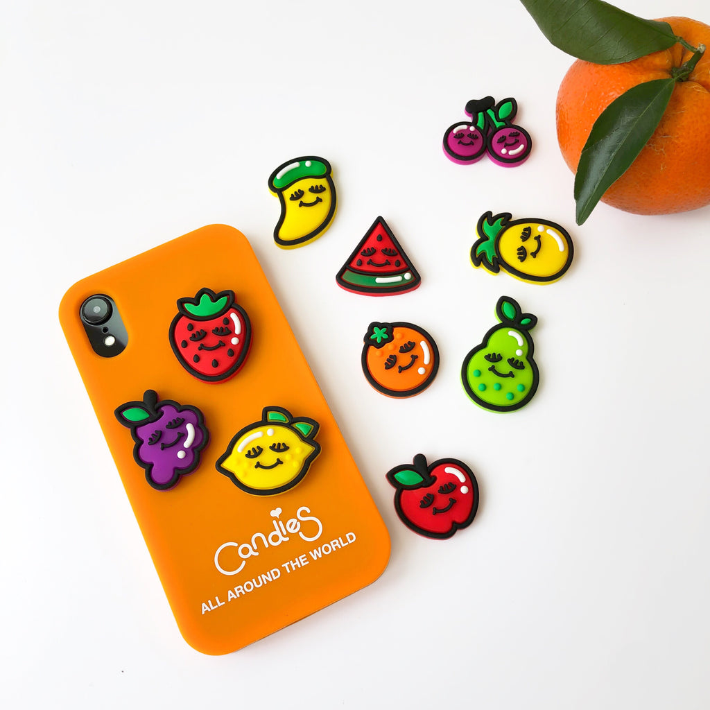 Fruits iPhone Case and Play Icon Set