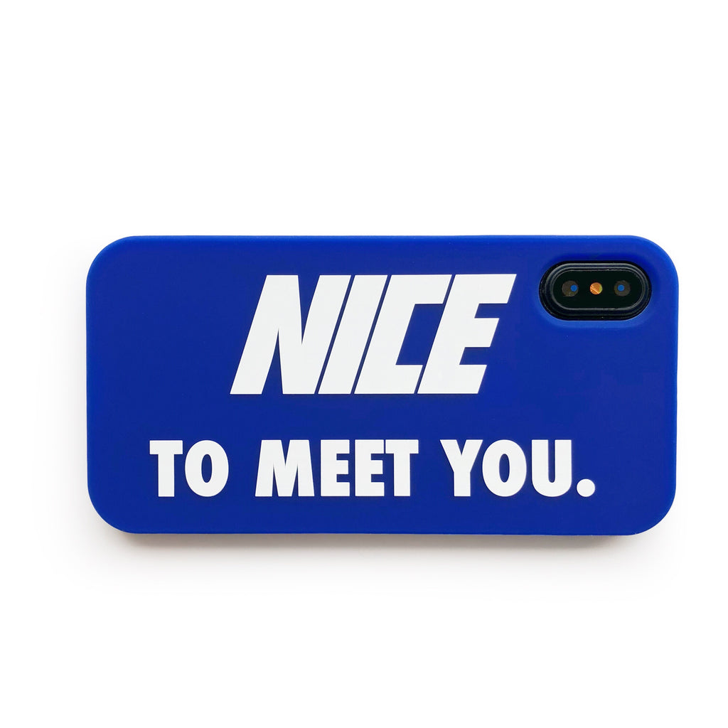 iPhone X/Xs Simple Case - Nice to Meet You (Blue)