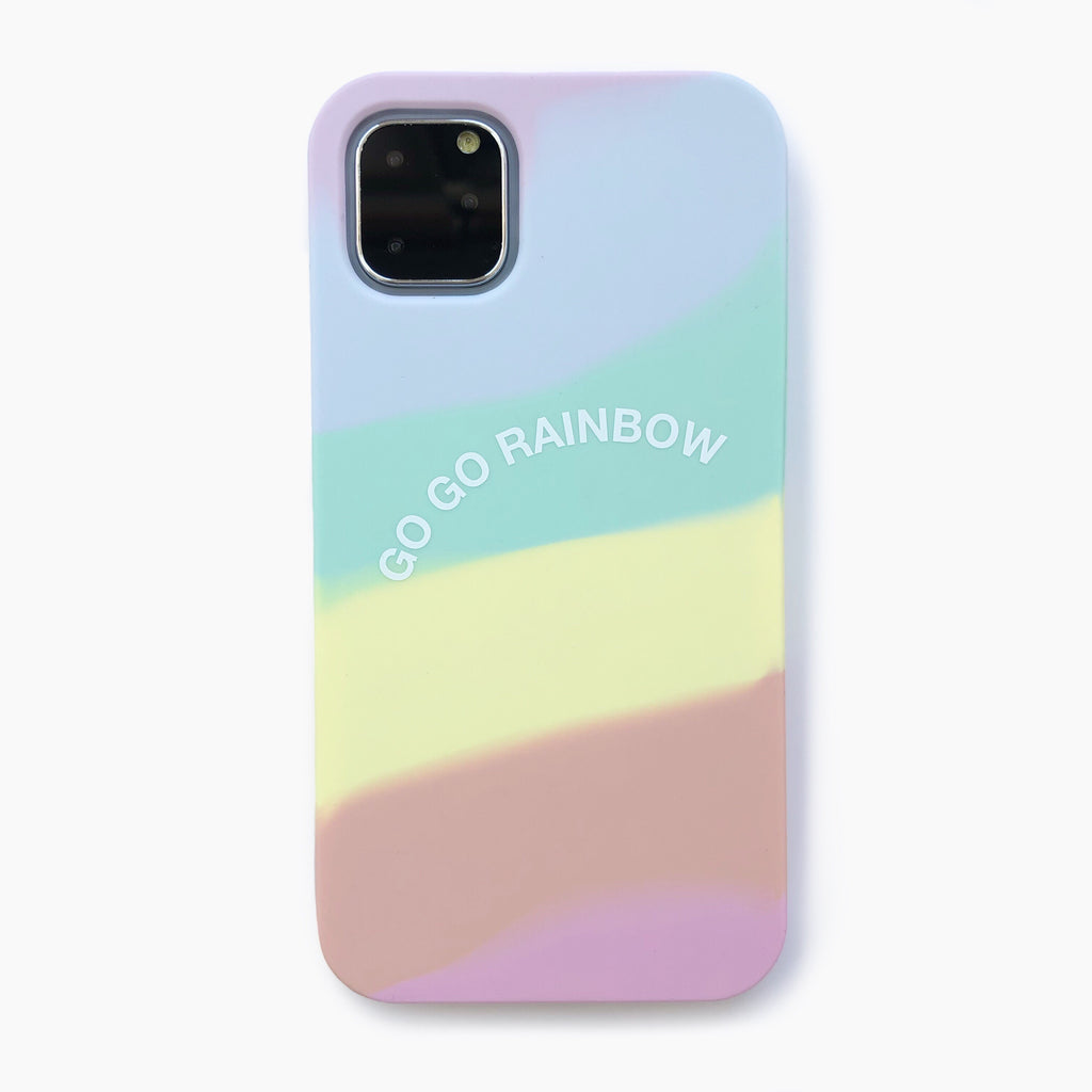 iPhone 11 Pro Max Simple Case - Go Go Rainbow (Pastel)