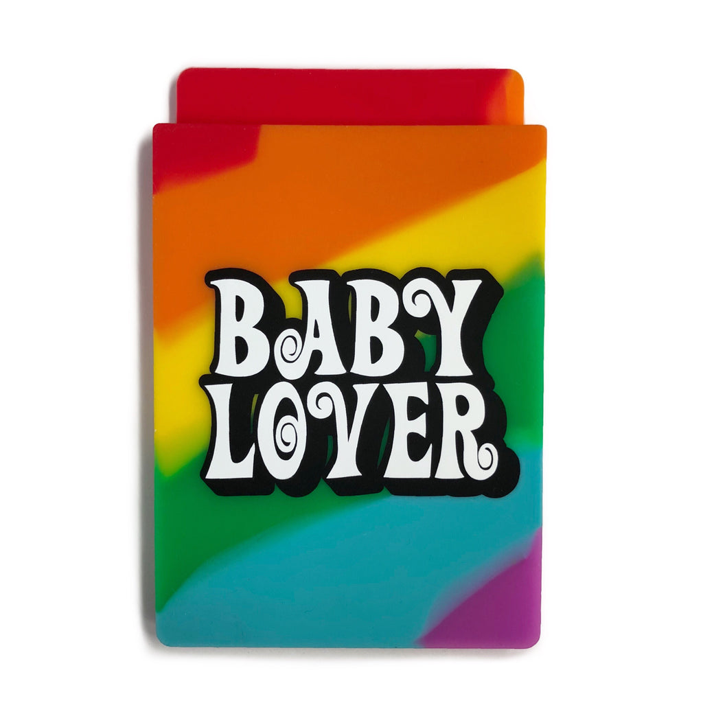 Removable Sticker Card Case - Rainbow BABY LOVER