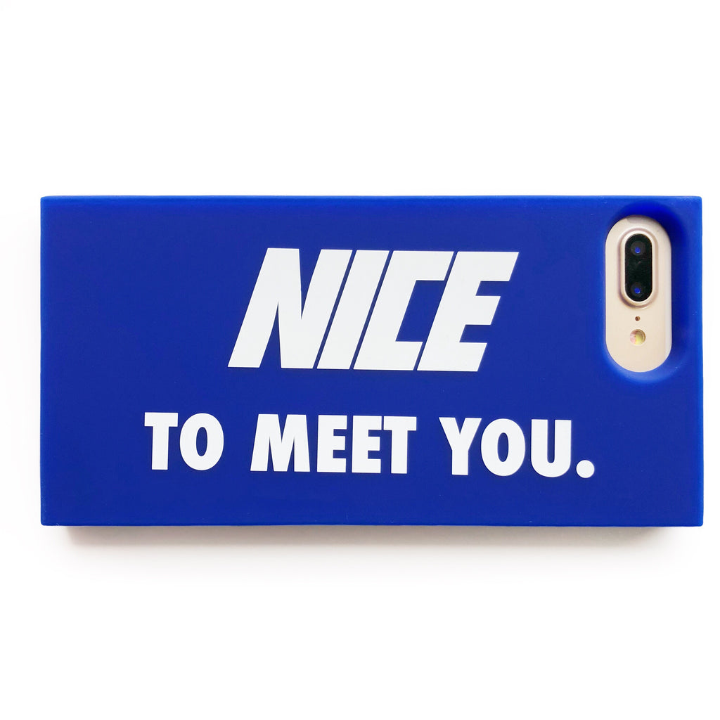 iPhone 7 Plus/8 Plus Simple Case - Nice to Meet You (Blue)