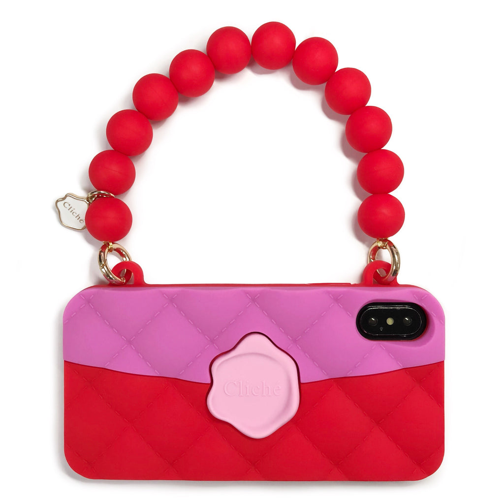 iPhone X/XS Seal Stamped Case (Pink/Red)