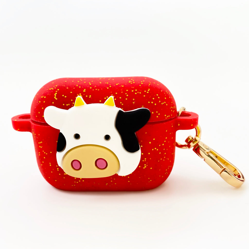 AirPods Pro Silicone Case - Year of the Cow (Glittery Red)
