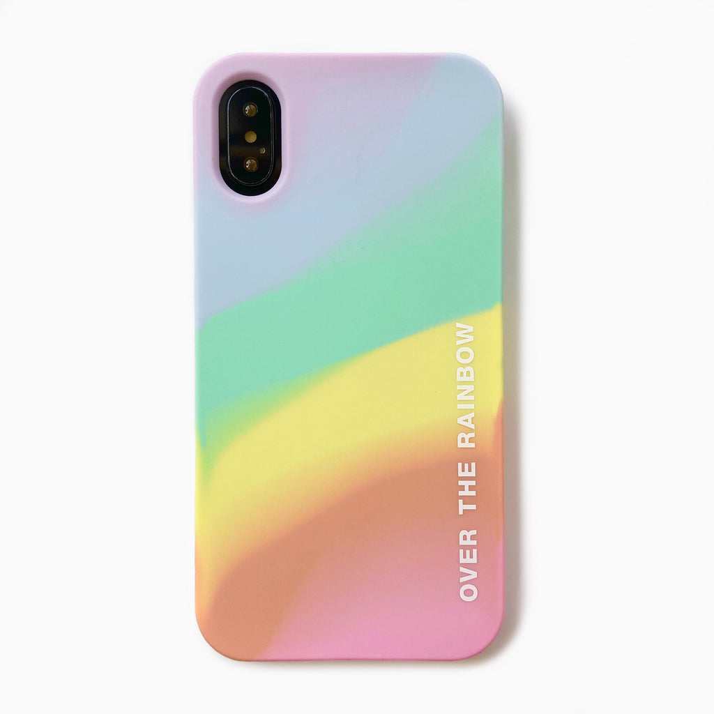 iPhone X/XS simple case - OVER THE RAINBOW (Pastel)
