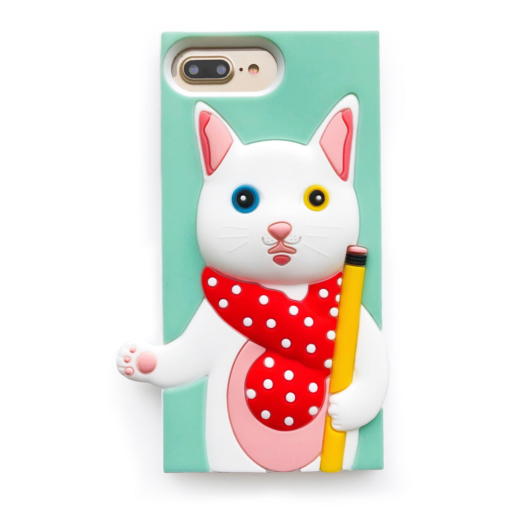 "Candies x  銀の文房具 - iPhone 7 Plus/8 Plus ""Gin"" Cat Case"
