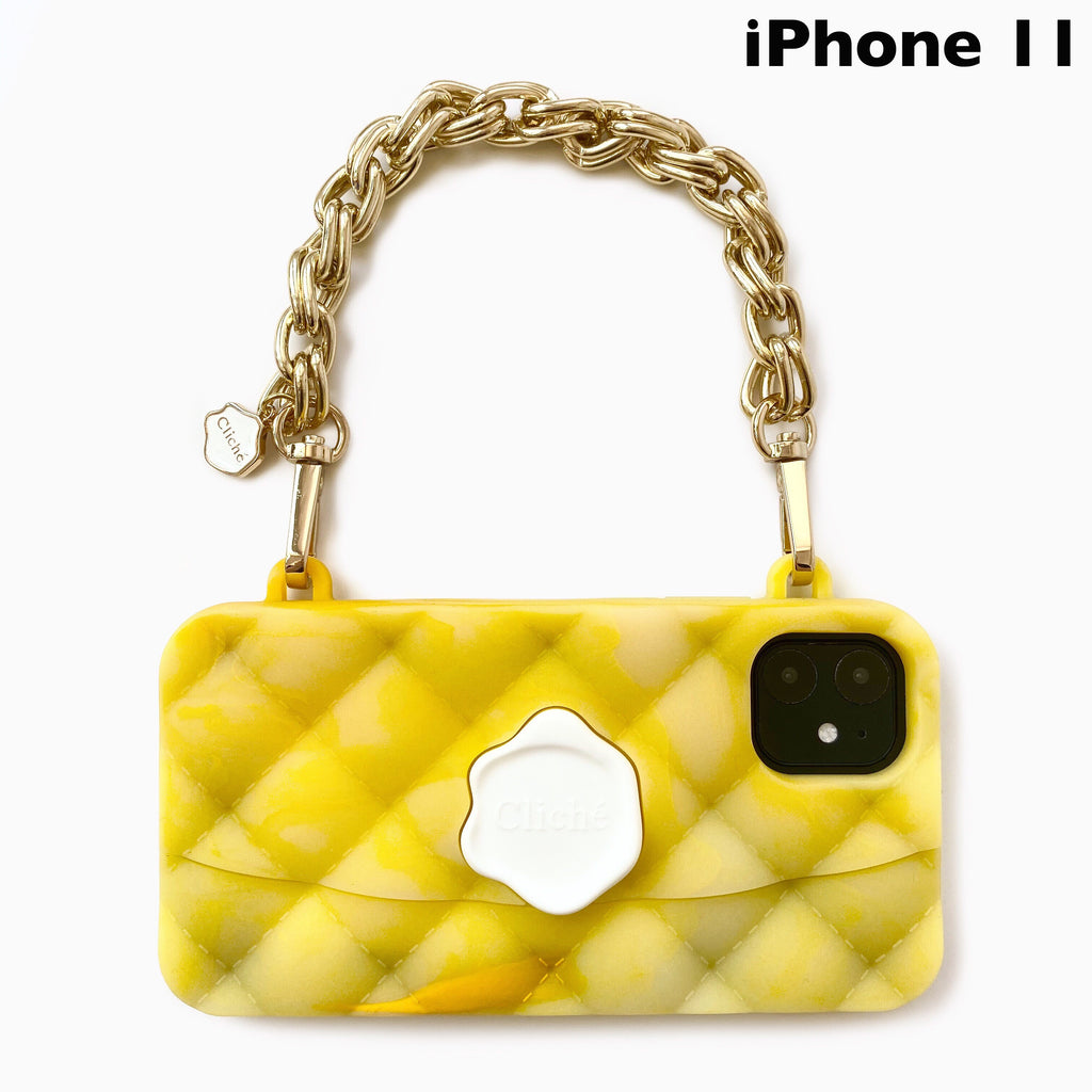 iPhone 11/11 Pro/11 Pro Max Yellow Marble Seal Stamped Case