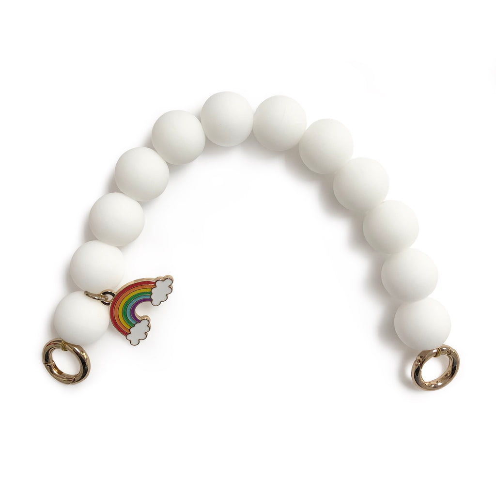 Silicone Beads Strap (White)