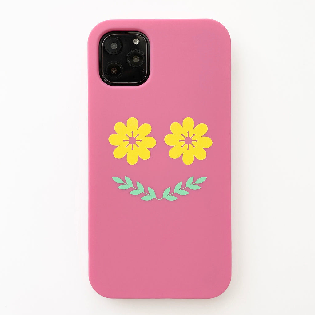 iPhone 11 Pro Max Simple Case - Flower Smile
