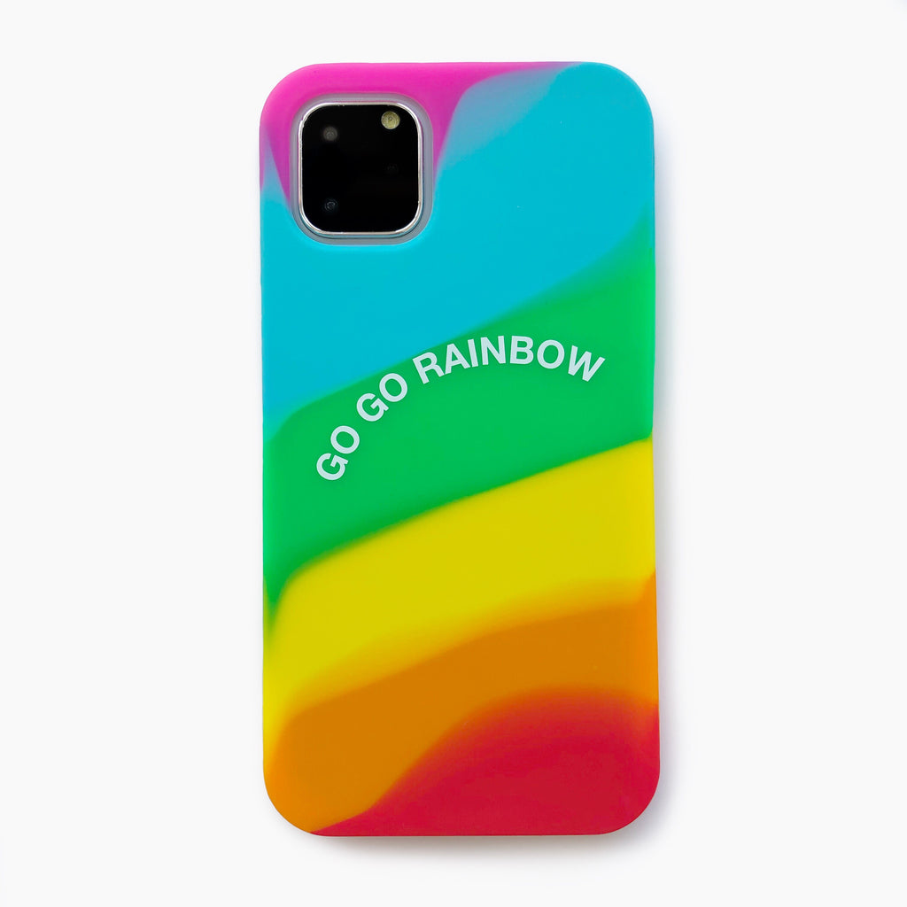 iPhone 11 Pro Max Simple Case - Go Go Rainbow (Bright)