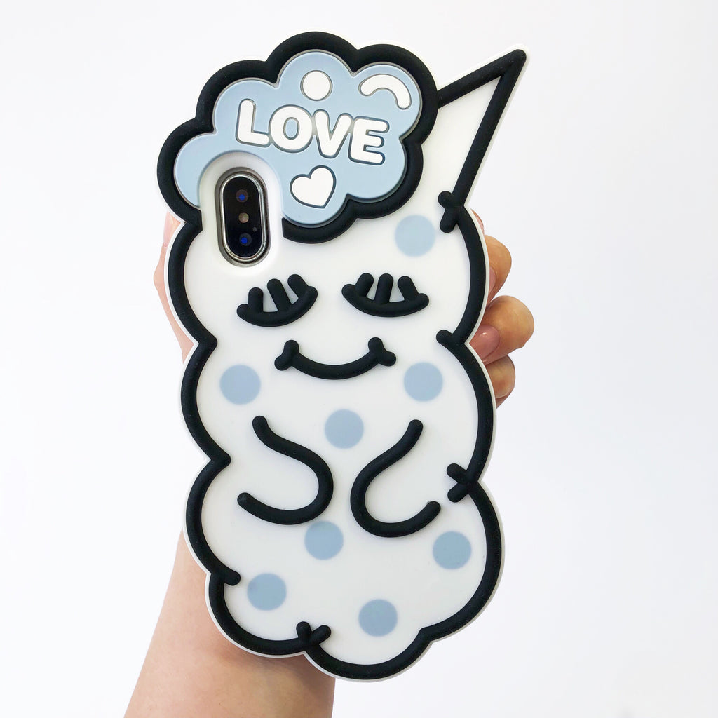 iPhone X/XS Case - Polka Dot Sleepie (Blue)