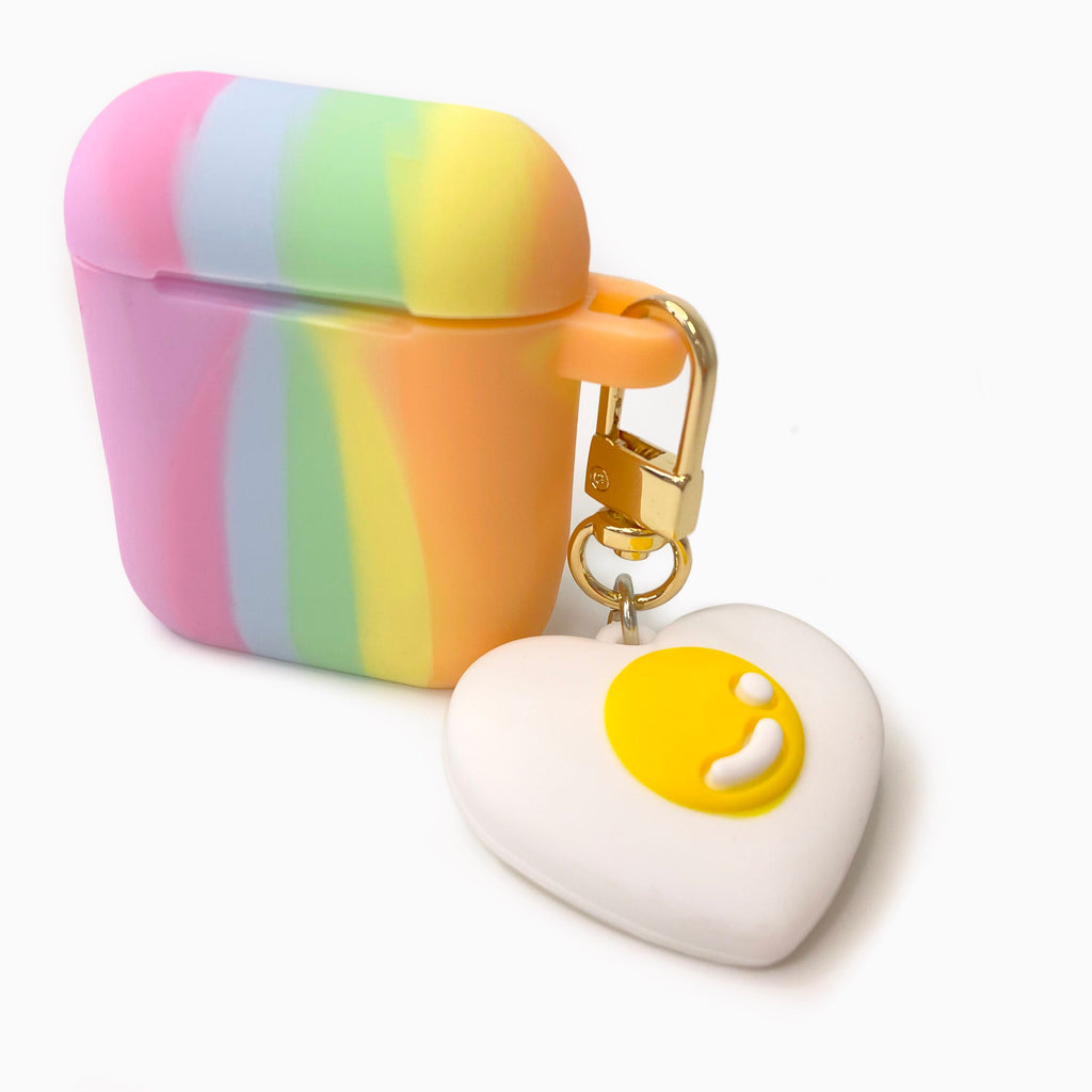 Tie-Dye Silicone AirPods Case with Gummy Heart Charm