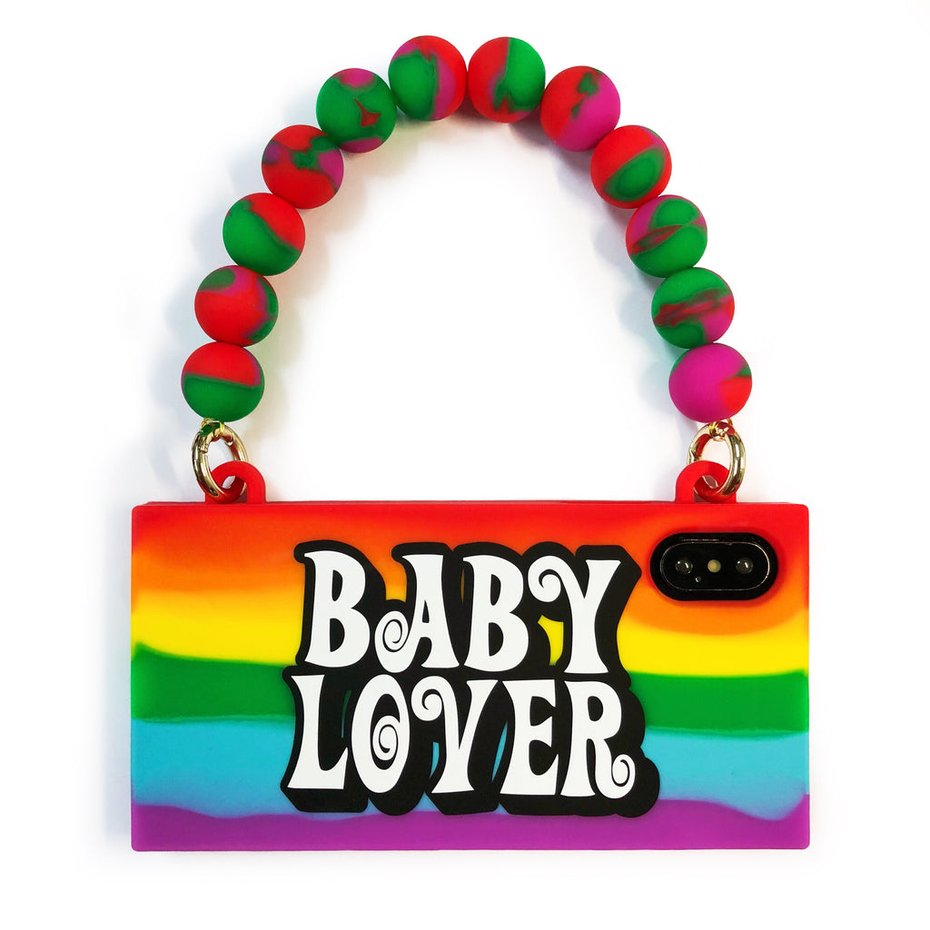 iPhone X/Xs Rainbow Handbag Case - BABY LOVER