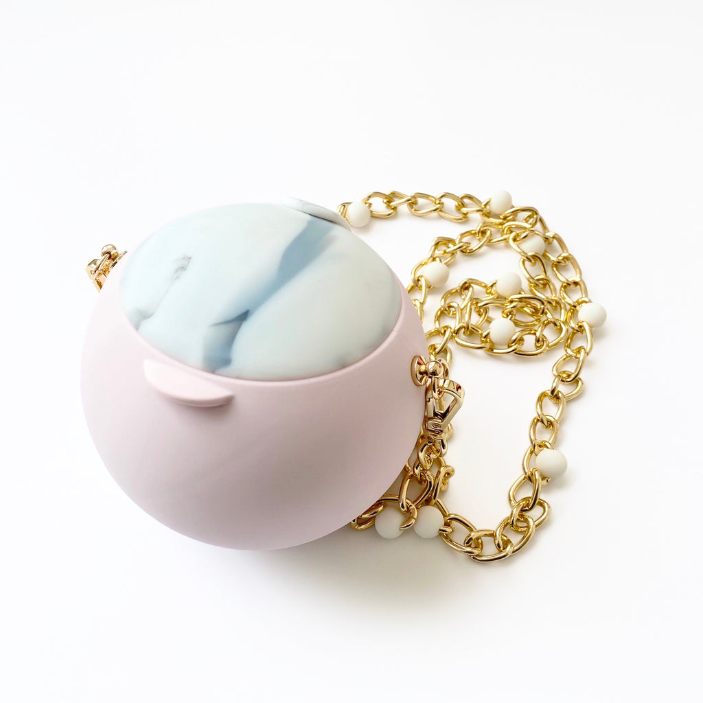 Silicone Bouncy Purse (Marble/Pink)