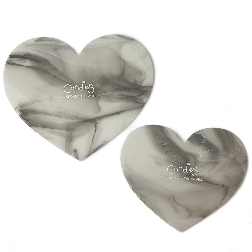 Silicone Marble Heart Mats (Pack of 2)