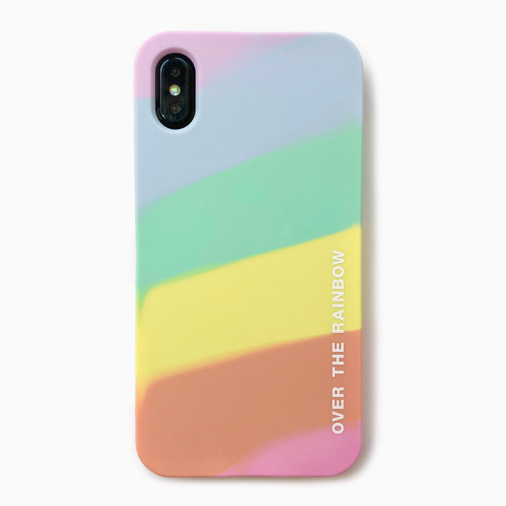 iPhone XS Max simple case - OVER THE RAINBOW (Pastel)