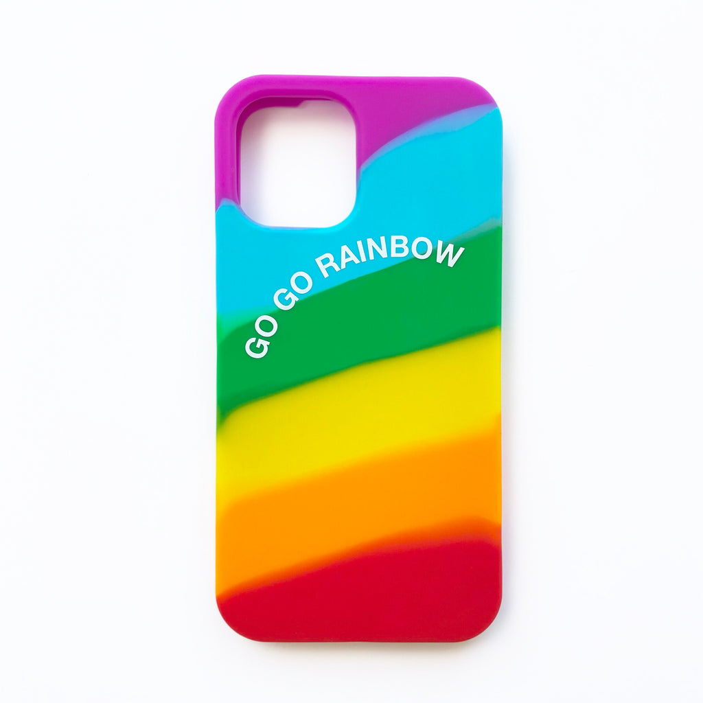 iPhone 12 / 12 Pro Simple Case - Go Go Rainbow