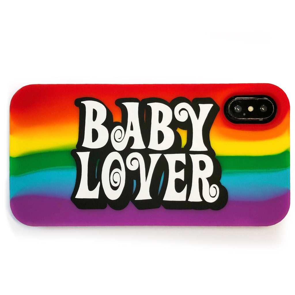 iPhone X/Xs Rainbow Simple Case - BABY LOVER